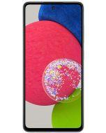 هاتف سامسونج جالاكسي A52S بسعة 128 جيجابايت وذاكرة وصول عشوائي سعة 8 جيجابايت وشبكة 5 جي إل تي إي ، باللون الابيض