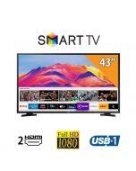 تلفيزيون سامسونج 43 بوصه، Full HD فائق الدقه الذكي بتقنيه ال ال اي دي - UA43T5300