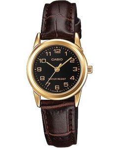 Casio Watch For Women - Leather - LTP-V001GL-1BUDF