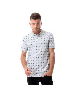 Activ Printed Pique Short Sleeves Polo Shirt - Heather Grey