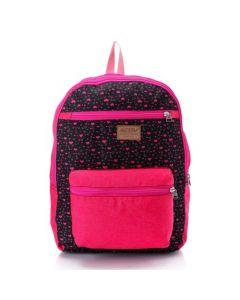 Activ Bi-Tone Hearts Backpack & Laptop Bag - Black & Fuchsia