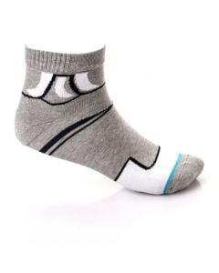 Activ Quarter Slip On Grey & White Socks