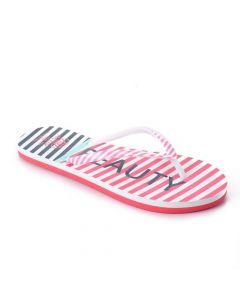 Activ Summer Fashionable Striped Flip Flop - Fuchsia & Navy Blue