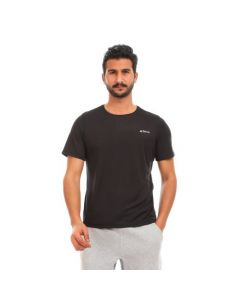 Activ Solid Half Sleeves Sportive T-Shirt - Black & Blue