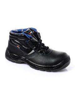 Activ Leather High Neck Safety Boots - Black & Blue