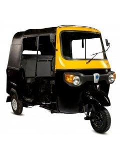 Piaggio APE City Tuk-Tuk, 197cc, Black/Yellow