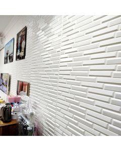 ورق حائط فوم ثلاثي الابعاد ابيض مائل