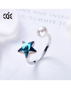 خاتم نجمة الياقوت اللطيفة - CRA-0229S