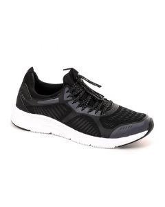 Air Walk Lace Up Mix Black Running Sneakers