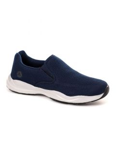 Air Walk Slip On Round Toe Comfy Sneakers - Navy Blue