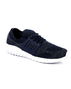 Air Walk Textile Lace Up Comfy Sneakers - Navy Blue