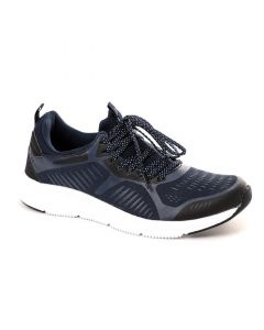 Air Walk Lace Up Mix Navy Blue Running Sneakers