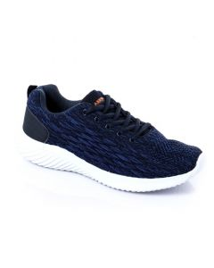 SHARE THIS PRODUCT   Air Walk Quilted Mesh Lace Up Sneakers - Blue & Black