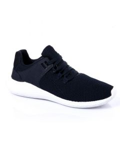 Air Walk Mesh Lace Up Simple Sneakers - Navy Blue