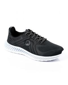 Air Walk Casual Mesh Lace Up Sneakers - Dark Grey