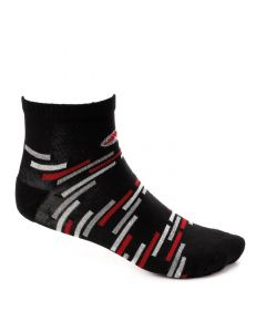 Air Walk Casual Patterned Mid-Calf Socks - Black