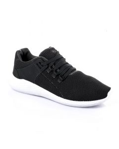 Air Walk Mesh Lace Up Simple Sneakers - Dark Grey