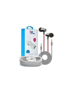 Bundel  Car charger + iphone cable + AUX + handfree