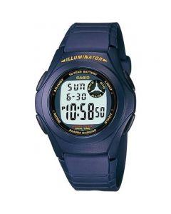 Casio Casual Watch, Digital, Resin Band For Men - F-200W-2ADF