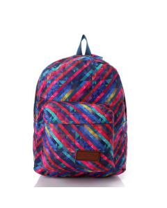 Activ Colorful Striped Polyester Backpack - Multicolour
