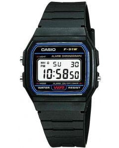 Casio For Men-Digital, Sport Watch, Resin F-91W-1DG