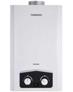 سخان مياه تورنيدو غاز 10 لتر مزود بشاشة ديجيتال و يعمل بالغاز الطبيعي لون أبيض GH-MP10N-A