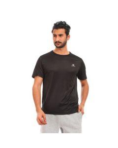Activ Plain Sportive Polyester T-Shirt - Black