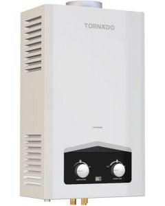 سخان مياه غاز بشاشة ديجيتال 6 لتر من تورنيدو GHM-C06CTE-W- ابيض