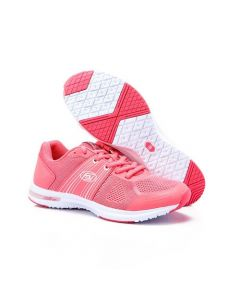 Activ Striped Sides Lace Up Casual Sneakers - Light Coral