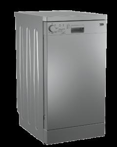Beko Freestanding Dishwasher, 10 Place Settings, Silver - DFS05012S