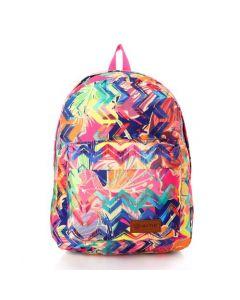 Activ Front Zipper Pocket Colorful Backpack - Multicolour