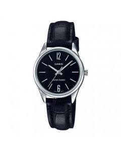 Casio Casual Watch, Analog, Leather Band For Women - LTP-V005L-1BUDF