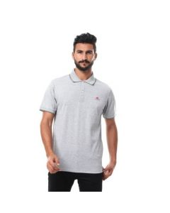 Activ Short Sleeves Buttoned Polo Shirt - Heather Grey