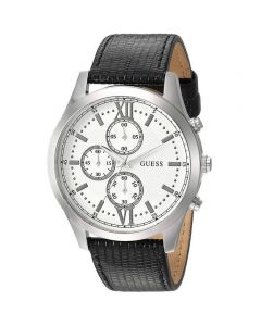 ساعة رجالية من جس هدسون مينا فضي بسوار جلدي - W0876G4.5
