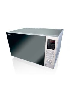 TORNADO Microwave 25 Litre, 900 Watt in Silver Color With Grill, 10 Cooking Menus MOM-C25BBE-S