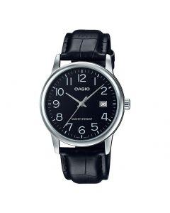 Casio Men's Leather Analog Derss Watch MTP-V002L-1BUDF