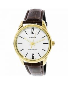 Casio Dress Watch, Analog, Leather Band For Men - MTP-V005GL-7BUDF