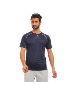 Activ Plain Sportive Polyester T-Shirt - Navy Blue