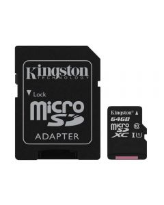بطاقة ذاكرة كينجستون متوافقة مع متعدد كانفس سيليكت(كلاس 10)، بطاقات مايكرو اس دي، 64 جيجابايت - 740617274769