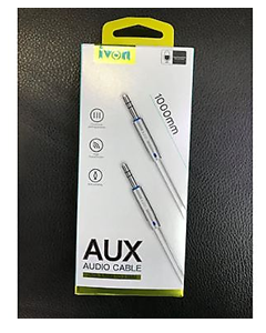 ivon cable aux  1*1  jack 3.5mm to 3.5mm  1000mm white ca-55