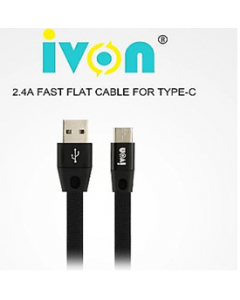 ivon fast cable charger and data line wire for type-c / ca58  /black/ 1m