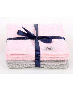 Hand Towels Set (2PCS) pink * grey