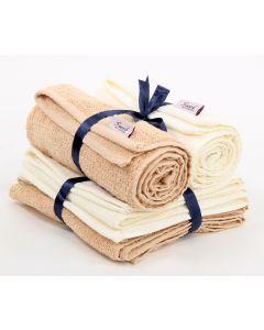 Hand Towels Set (2PCS)  Biege * offwhite