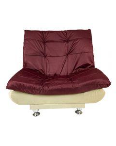 كرسي سرير مودرن 3*1 بني*بيج 90*120