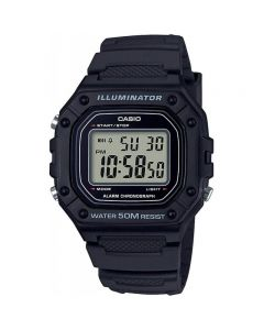 Casio Casual Watch, Digital, Resin Band For Men - W-218H-1AVDF