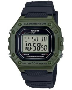 Casio Sport Watch, Digital, Resin Band For Men - W-218H-3AVDF