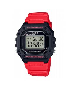 Casio Sport Watch, Digital, Resin Band For Unisex - W-218H-4BVDF