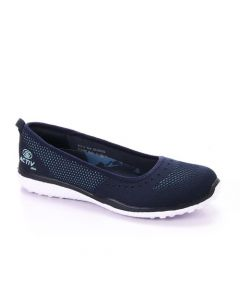 Activ Simple Solid Slip On Flat - Navy Blue