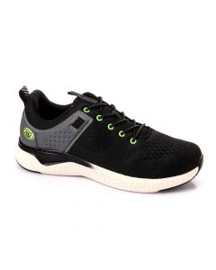Activ Perforated Casual Lace Plain Sneakers - Black