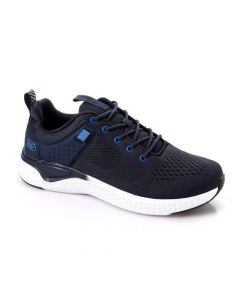Activ Lace Up Casual Perforated Sneakers - Navy Blue